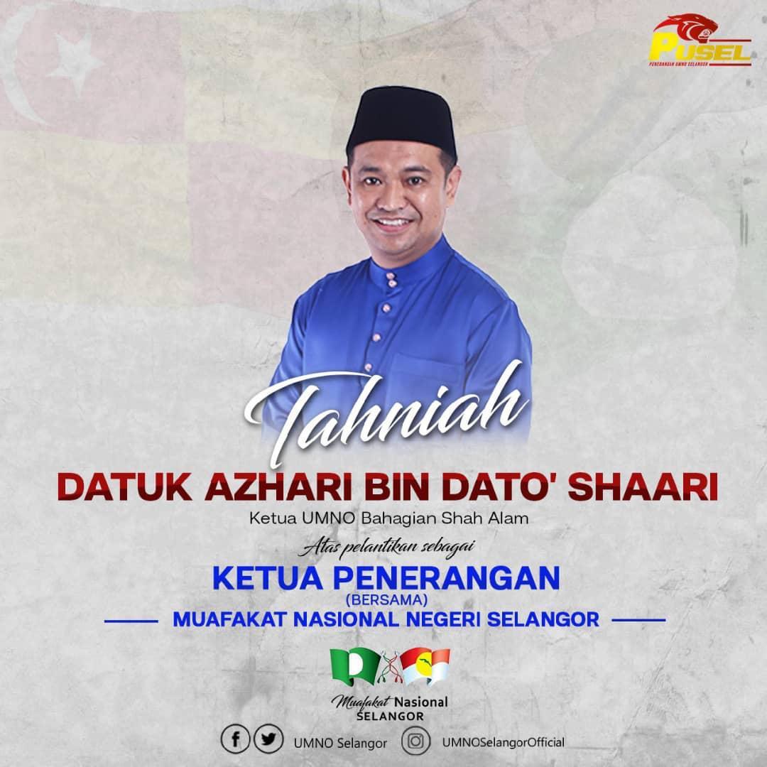 Datuk Azhari Shaari Dilantik Ketua Penerangan Muafakat Nasional Negeri Selangor